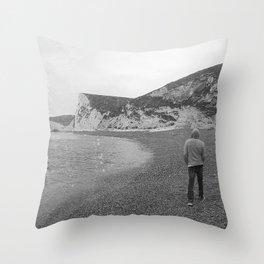 Durdle Door Beach England Throw Pillow