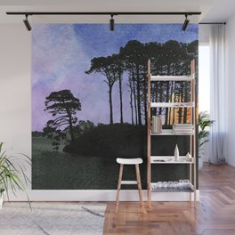 No one can gaze on the night without vertigo Wall Mural