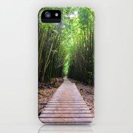 Bamboo Boardwalk on Maui iPhone Case