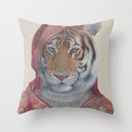 Indian Tiger Throw Pillow