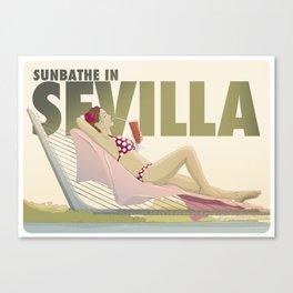 Sunbathe in Sevilla Canvas Print