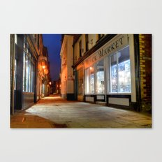 Sandgate, Whitby at Night Canvas Print