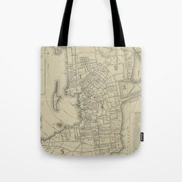 Vintage Map of Newport Rhode Island (1901) Tote Bag