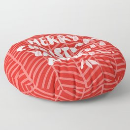 Merry Christmas, Ya Filthy Animal – Red Floor Pillow