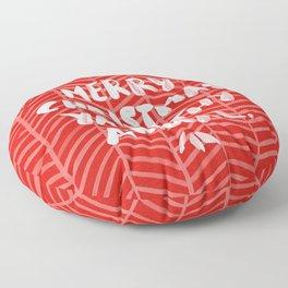 Merry Christmas, Ya Filthy Animal – Red Floor Pillow