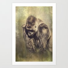 Gorilla in the Mist Art Print