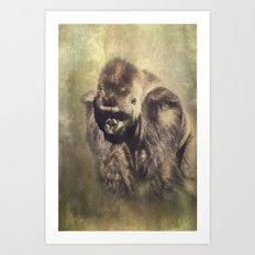 Gorilla in the Mist Art Print