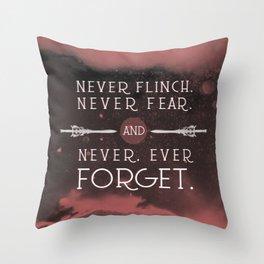 Nevernight - Never Forget Throw Pillow