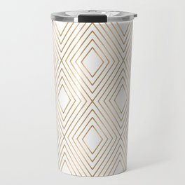 Elegant Geometric Gold Pattern Illustration Travel Mug