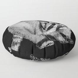 Hipster Racoon Floor Pillow