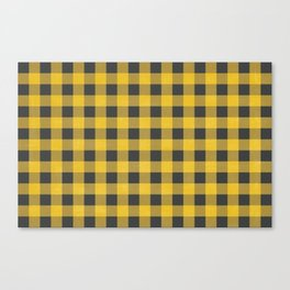 Yellow Flannel Checkers Canvas Print