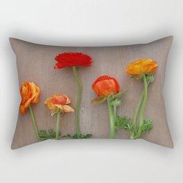 Orange Ranunculus flowers Rectangular Pillow