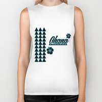 ohana Biker Tanks featuring My Ohana by Lonica Photography & Poly Designs