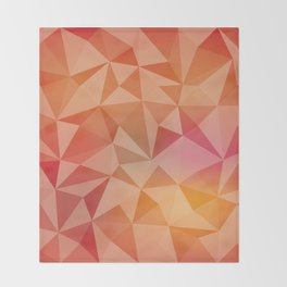 Geometric pyramids Throw Blanket