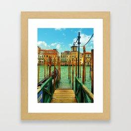 Venice Dock Framed Art Print