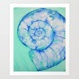 Blue Moon Shell Art Print