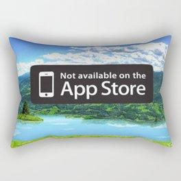 Mix Social App Media Background Rectangular Pillow