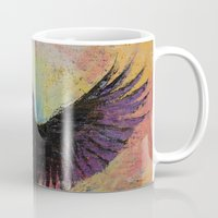 crow Mugs featuring Crow by Michael Creese