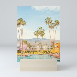 Poolside in Palm Springs - Travel Photography Mini Art Print