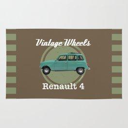 Vintage Wheels - Renault 4 Rug