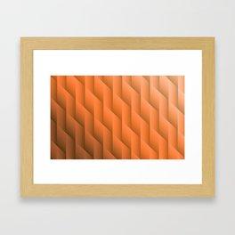 Gradient Orange Diamonds Geometric Shapes Framed Art Print