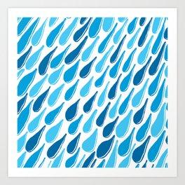 monochromatic blue aqua turquoise navy teal sapphire Art Print