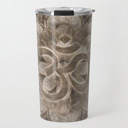 Om Symbol Lotus flower Vintage gold Travel Mug