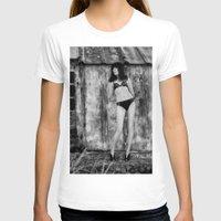 bikini T-shirts featuring Black Bikini. by davehare