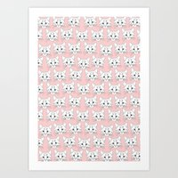a lot of cats Art Prints featuring a lot of cats by galactikat