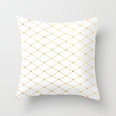 diamond - gold Throw Pillow