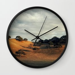 An Italian Hillside in Santa Ynez #2 Wall Clock