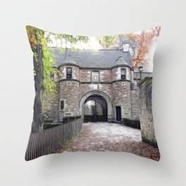 Dean Castle Throw Pillow