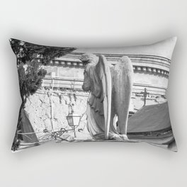 ancient angel on the memorial Rectangular Pillow