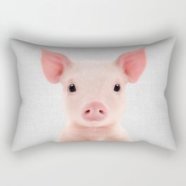 Piglet - Colorful Rectangular Pillow