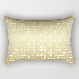 Gold pixels Rectangular Pillow