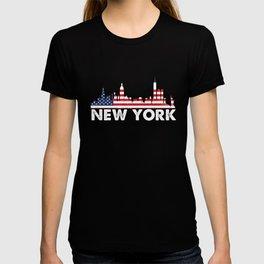 New York American Flag Shirt, 4th of July shirts T-shirt