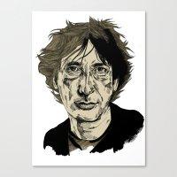 neil gaiman Canvas Prints featuring Neil Gaiman by Andy Christofi