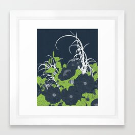 Midnight Flowers Framed Art Print