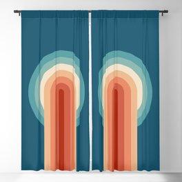 Retro arches Blackout Curtain