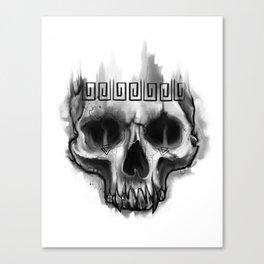 Aztec skull Canvas Print