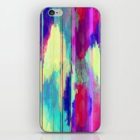 glitch iPhone & iPod Skins featuring Glitch by James McKenzie