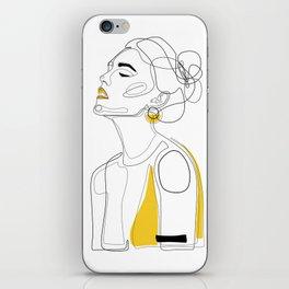 Yellow Lip iPhone Skin