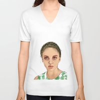 venus V-neck T-shirts featuring VENUS by Laura O'Connor
