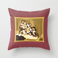 The Anatomy Lesson by Rembrandt Throw Pillow