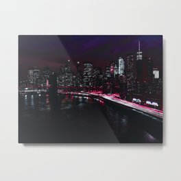 Red New York City Metal Print