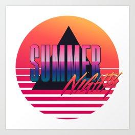 Summer Nights - Retrowave Art Print