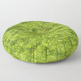 Field of fresh green grass Floor Pillow