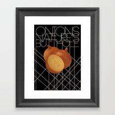 Nature's Butthole Framed Art Print