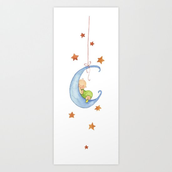 Baby moon Art Print