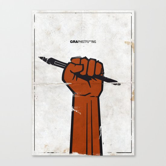 Graphistfu**ing Canvas Print